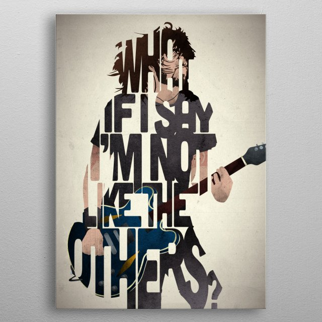 Dave Grohl - Foo Fighters. metal poster
