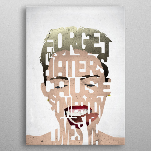 Miley Cyrus. metal poster