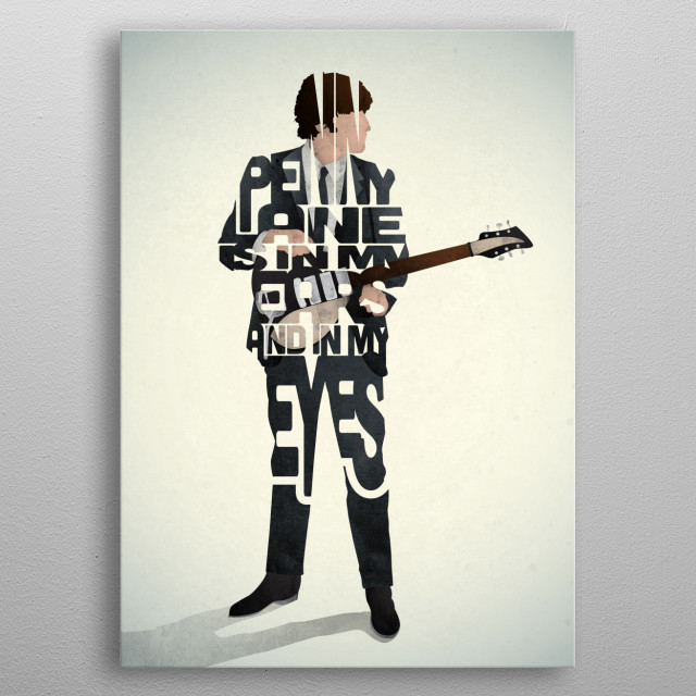 John Lennon - The Beatles. metal poster