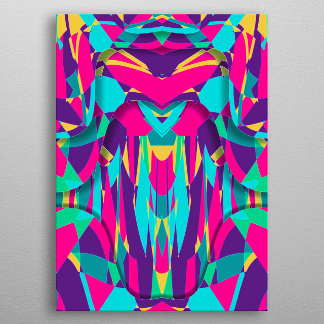 Abstract I metal poster