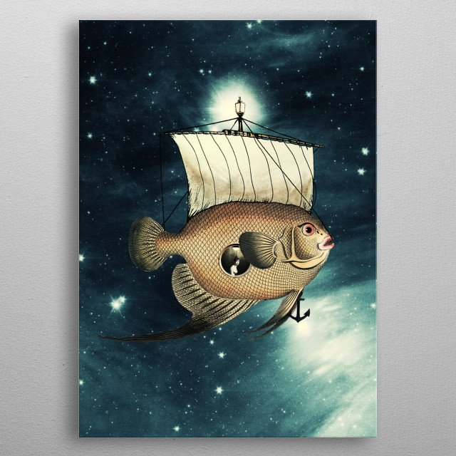 5 Weeks in A Yellow Fish metal poster