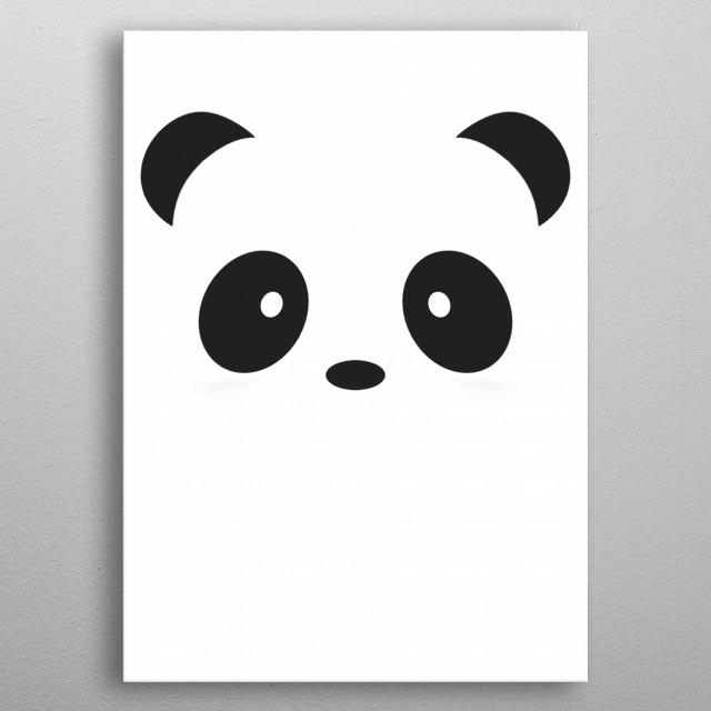 panda metal poster