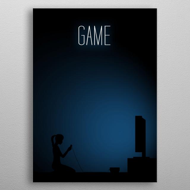 Girl Gamer - Game metal poster