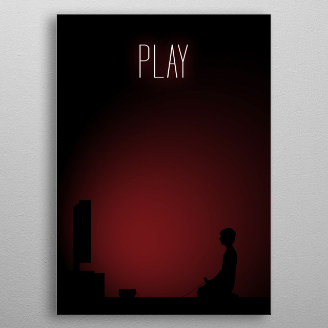 Boy Gamer - Play metal poster