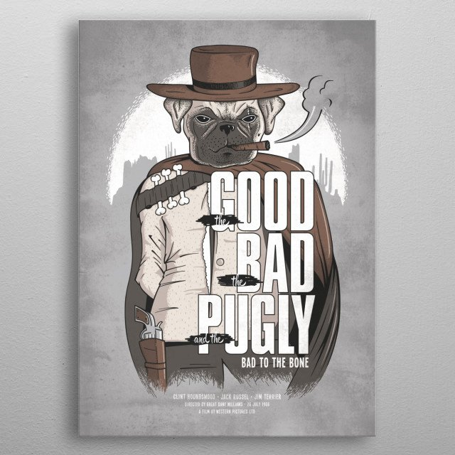 Clint Houndswood metal poster