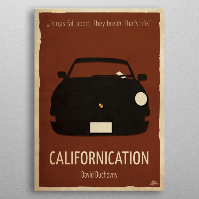 'Californication' Minimal Poster metal poster