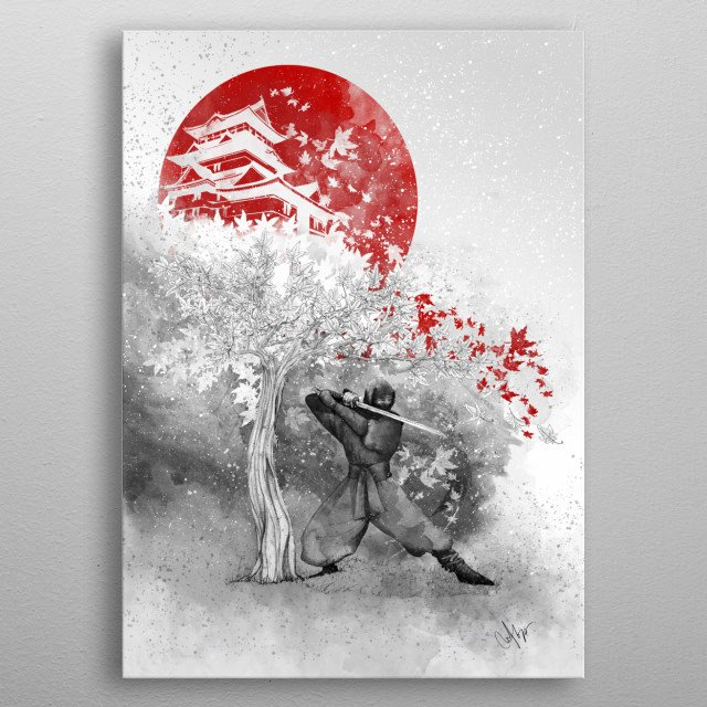 The warrior and the wind metal poster