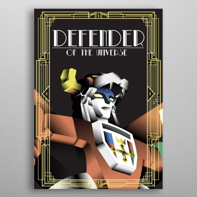 Defender of the Universe metal poster