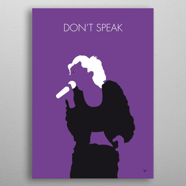"""No051 MY NO DOUBT Minimal Music poster """"Don't Speak"""" is a song by American rock band No Doubt. metal poster"""