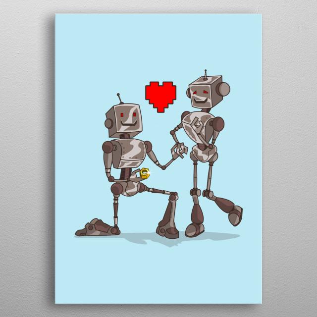 Digital Love metal poster