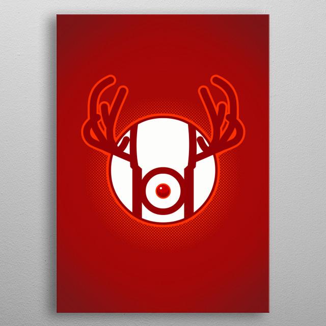 Red Nosed Lantern metal poster