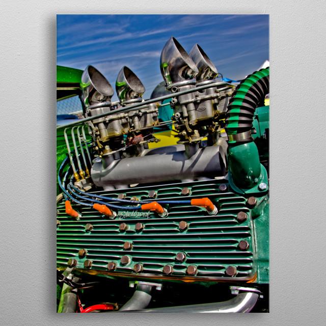 Hotrod Lincoln metal poster