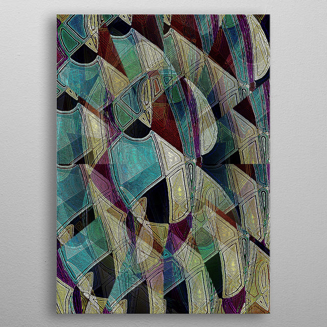 High-quality metal print from amazing Patterns collection will bring unique style to your space and will show off your personality. metal poster