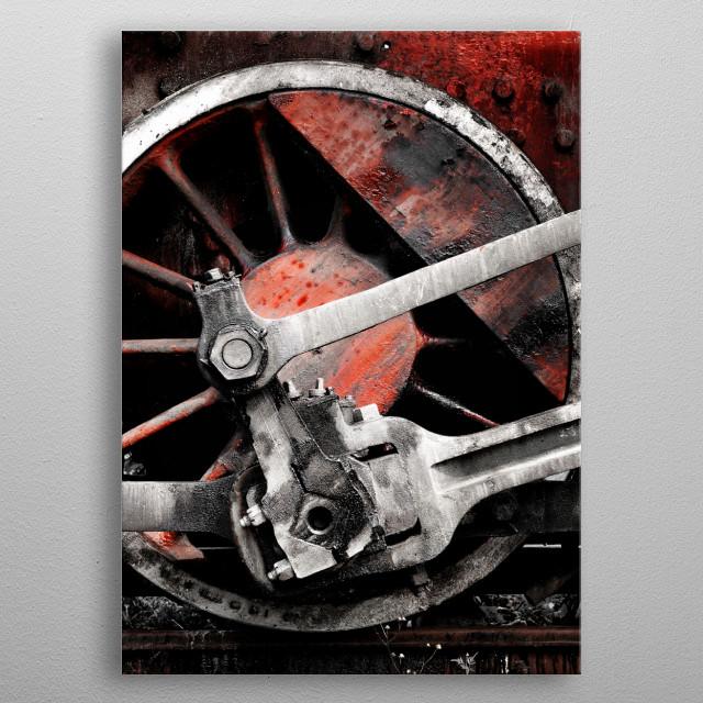 vintage steam locomotive metal poster