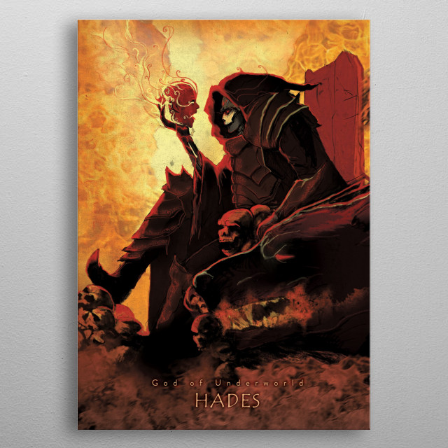 Hades - God of the Underworld metal poster