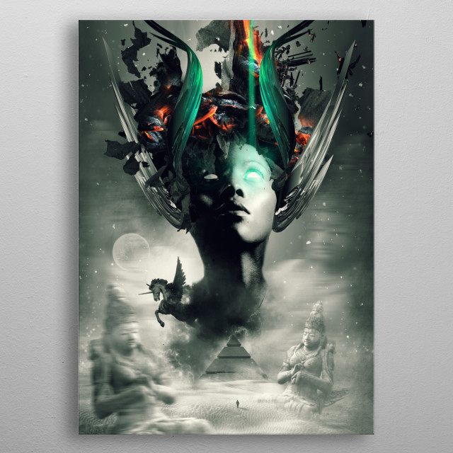 Fascinating metal poster designed by Naked Monkey. Displate has a unique signature and hologram on the back to add authenticity to each design. metal poster