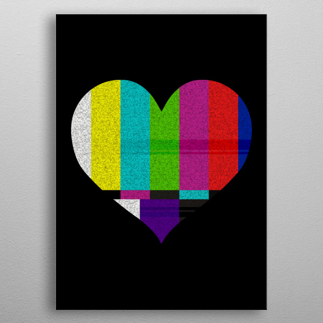 TV HEART metal poster