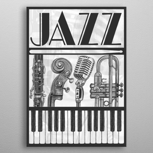 Jazz metal poster