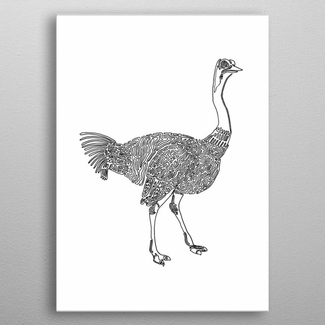 Ostrich One Liner metal poster