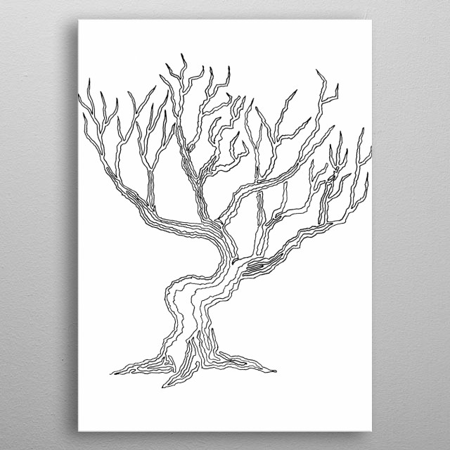 Tree 03, One Liner metal poster