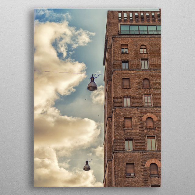 Vertical architecture metal poster