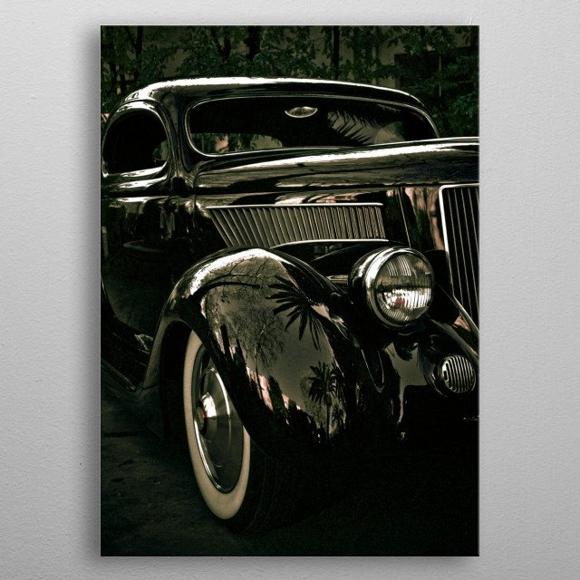 Reflections of Cali metal poster