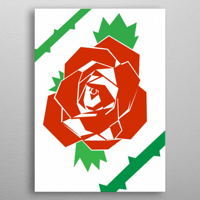 Red Rose metal poster