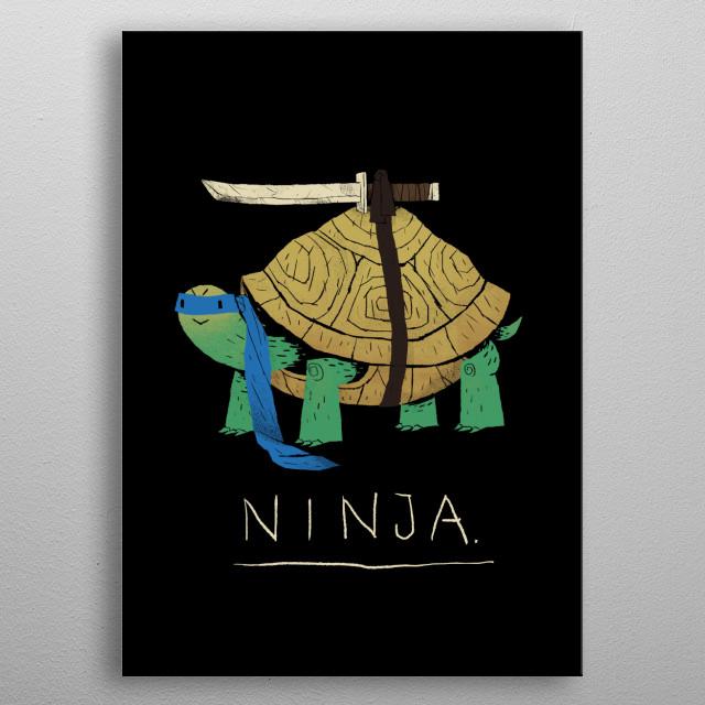 ninja - blue metal poster
