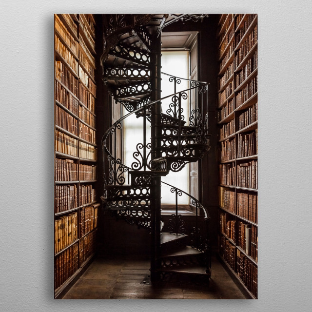 Spiral Stairs metal poster