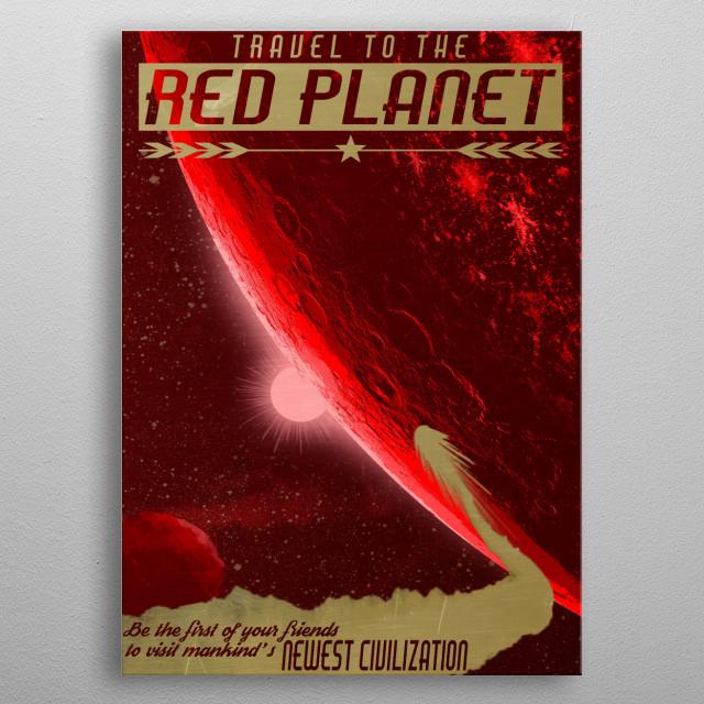 Red Planet metal poster