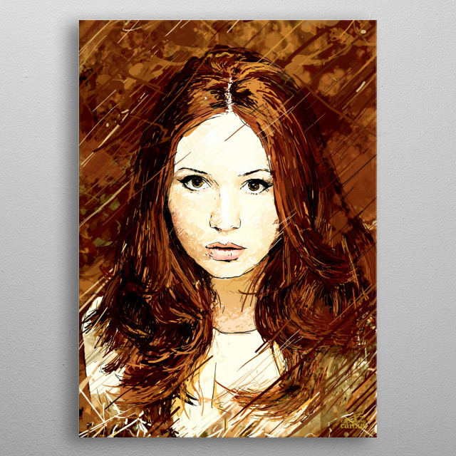 The Girl Who Waited Illustration inspired by the character of Karen Gillan as Amy Pond on the Doctor Who series. metal poster
