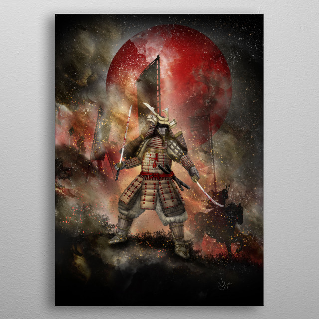 Banzai [The Warrior on the Hill] metal poster