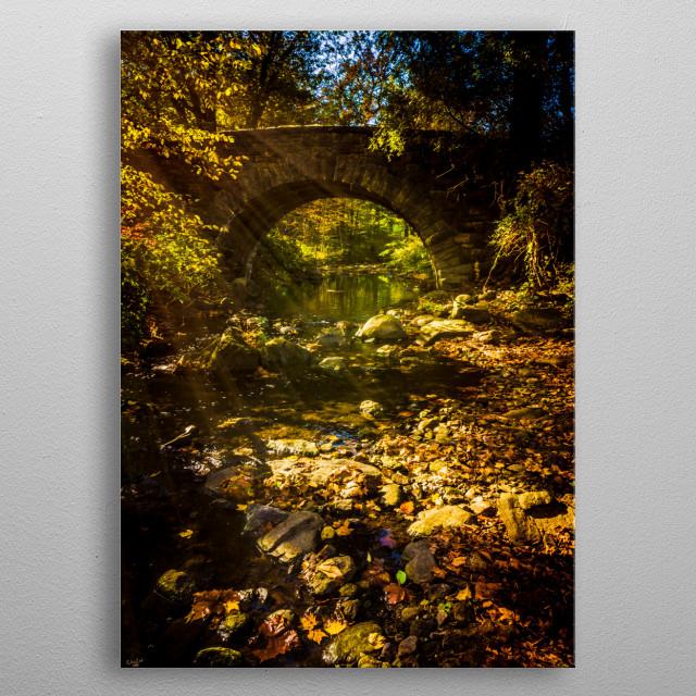 Shady Stream Bridge metal poster