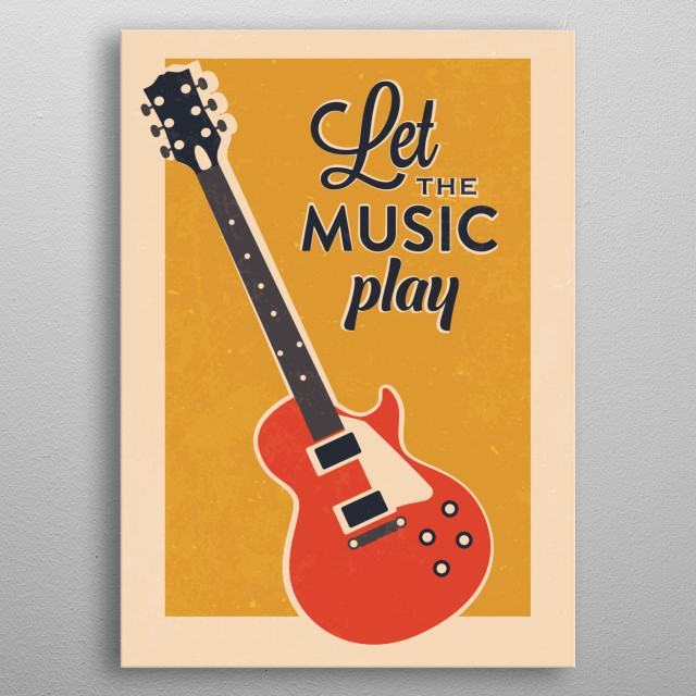 Let the Music Play metal poster