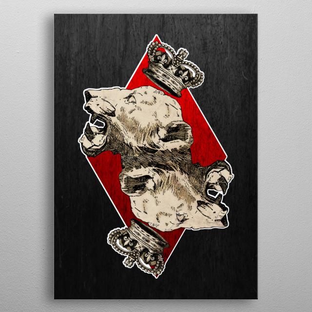 King of Diamonds metal poster