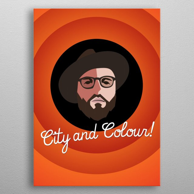 City and Colour metal poster