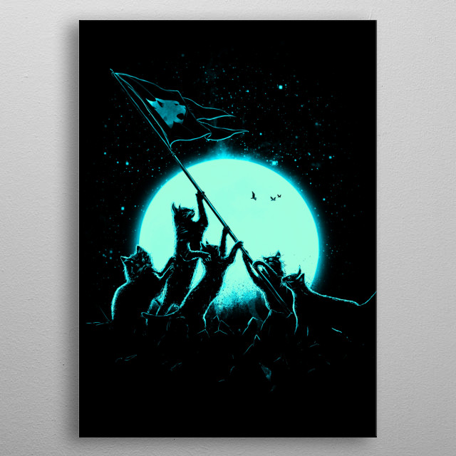 Freedom Cats metal poster