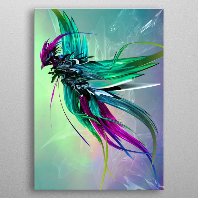 flight of phoenix metal poster