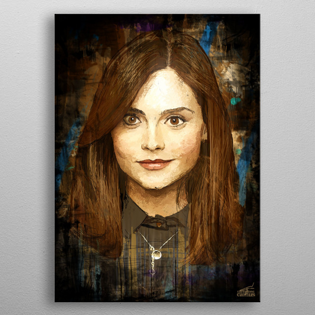 The Impossible Girl Clara Oswald from the Doctor Who Series metal poster