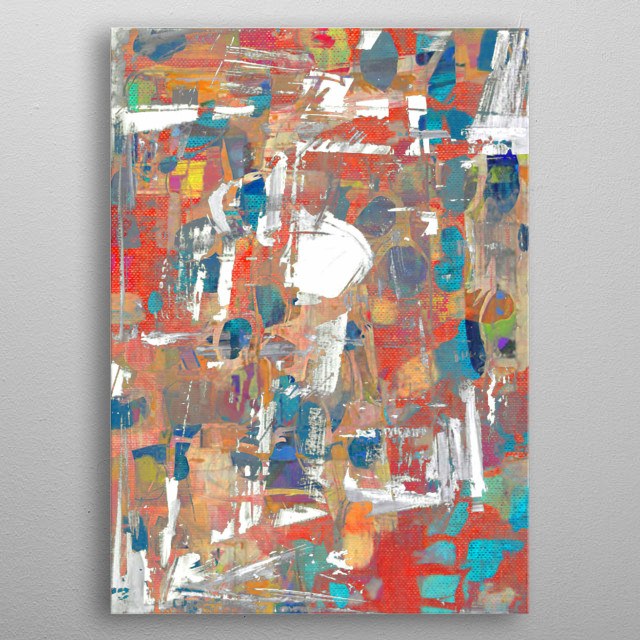 High-quality metal print from amazing Abstract collection will bring unique style to your space and will show off your personality. metal poster