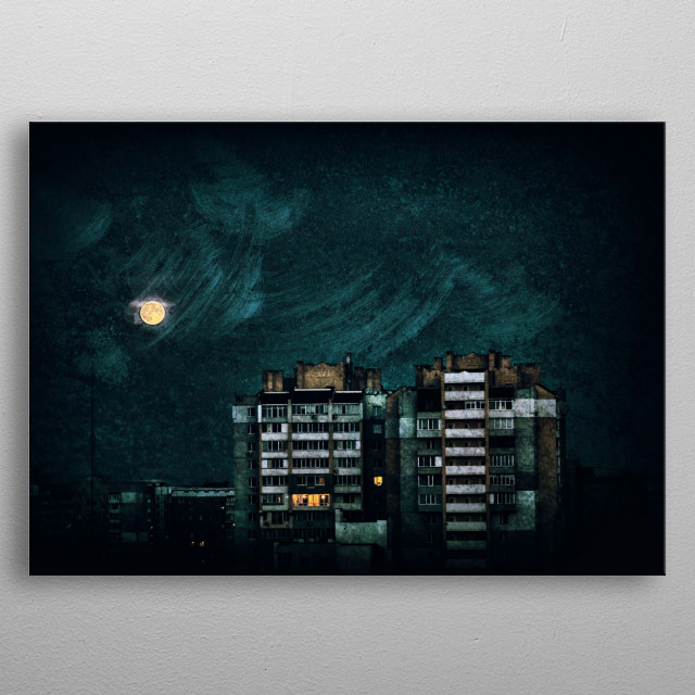 """Oh, Starry Night"" metal poster"