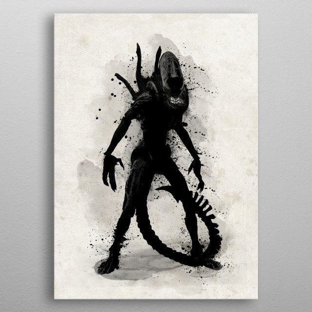 Bloodthirsty space killer. metal poster