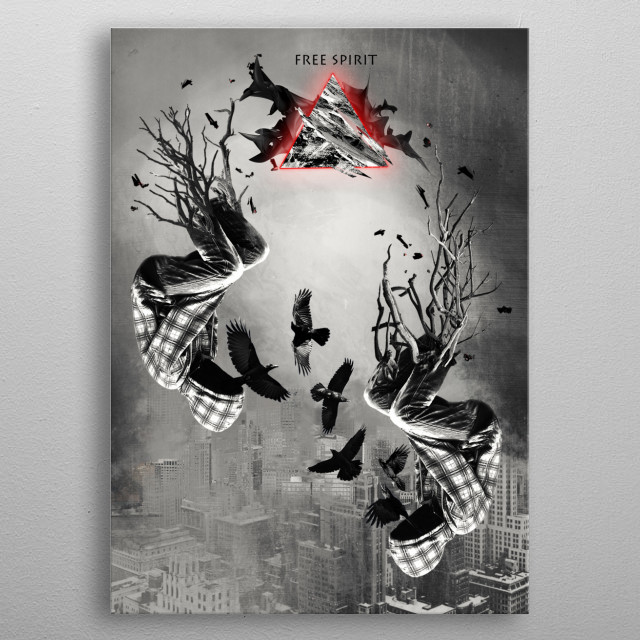High-quality metal print from amazing I Art You collection will bring unique style to your space and will show off your personality. metal poster