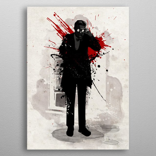 Time Lord metal poster