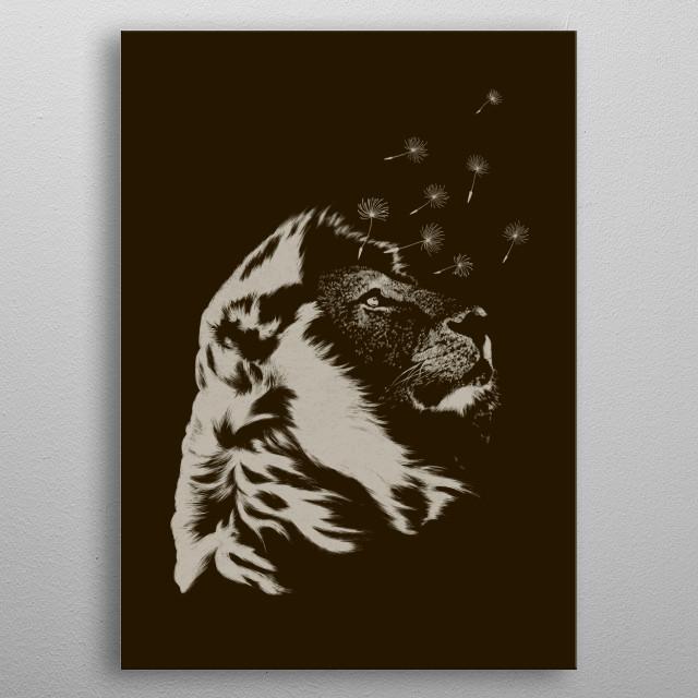 Dande-lion metal poster
