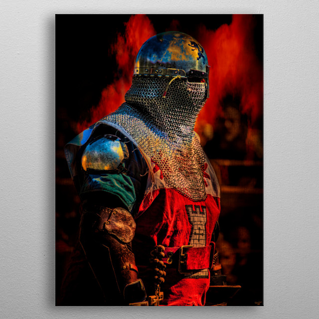 The Christian Warrior metal poster