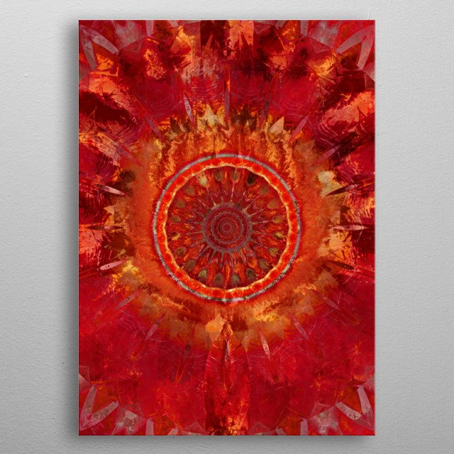 High-quality metal print from amazing Mandala collection will bring unique style to your space and will show off your personality. metal poster