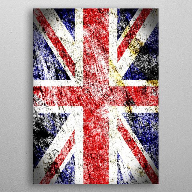 Union Jack metal poster