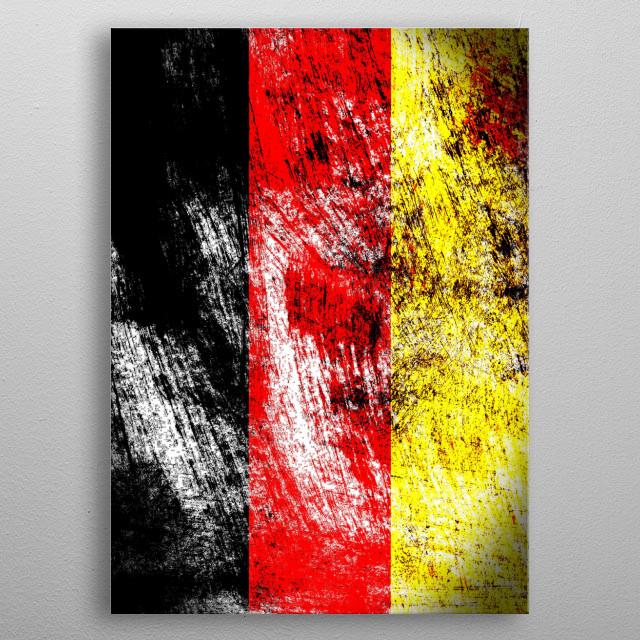 Die Bundesflagge metal poster
