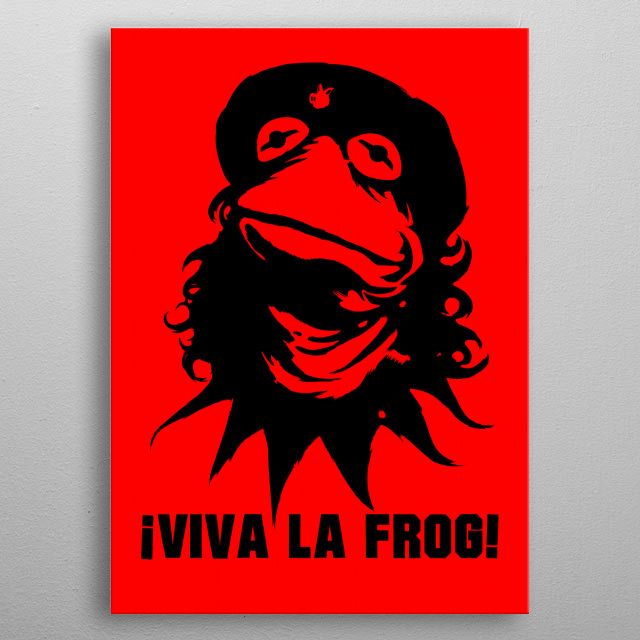 Viva la Frog! The revolution will be televised, and it will be heckled from the balcony by two old men. metal poster